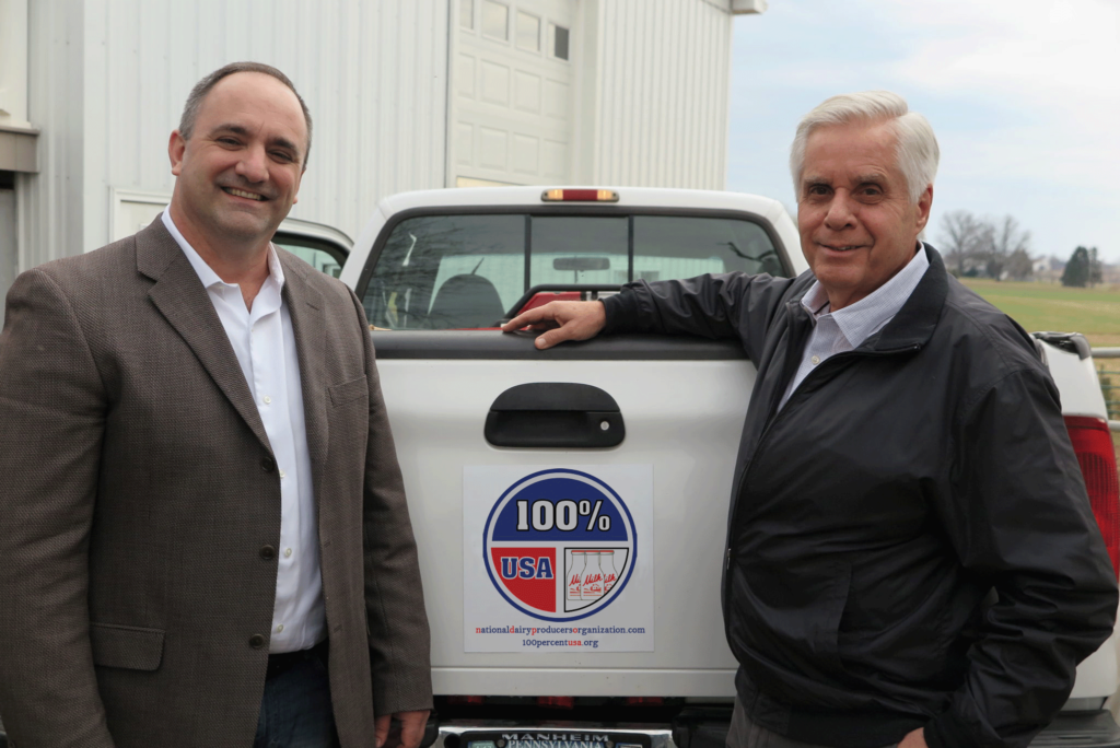 Mike Eby and Gary Genske hosts of National Dairy Producers Organization Tuesday National Call